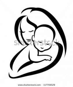 stock-vector-mother-and-baby-vector-silhouette-117759529